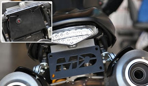 2009-2014 Ducati Monster 1100 Fender Eliminator Kit | Ducati Monster 1100 Tail Tidy | LED Plate Light