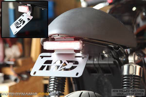 2016-2019 Triumph Thruxton Fender Eliminator Kit | Triumph Thruxton Tail Tidy | LED Tail Light in Clear Lens