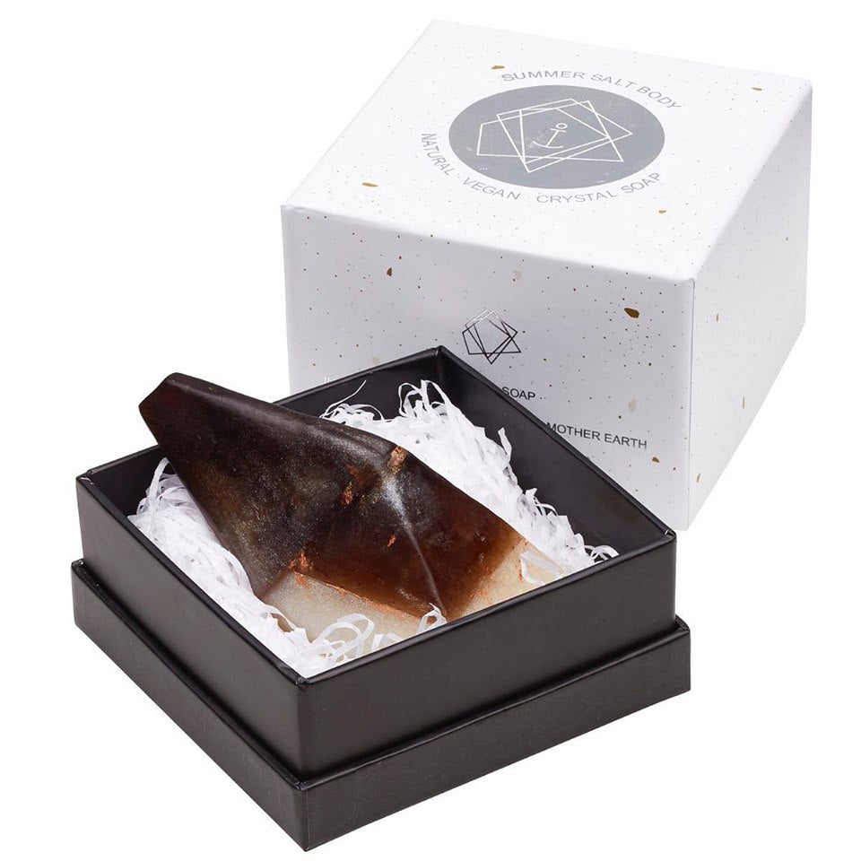 Summer Salt Body Crystal Soap - Smoky Quartz