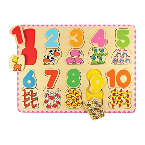 Bigjigs Toys - Number & Colour matching Puzzle