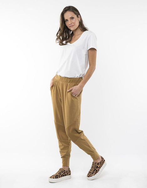 Rib Trim Trackpant - Deep Mustard