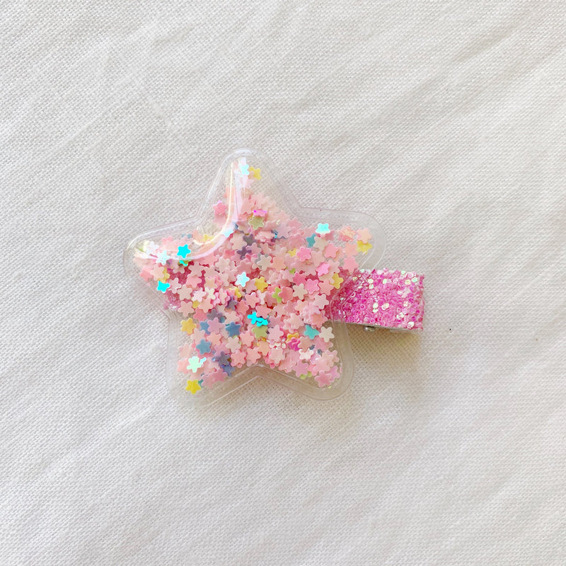 Starred Clips - Pink Stars