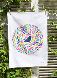 Tea Towel - Bird In Leaves