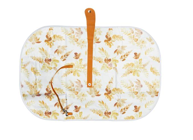 Mustard Floral Travel Baby Change Mat