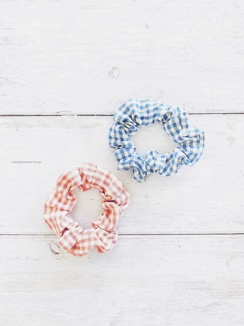 Suzette Gingham Scrunchie Duo Pack