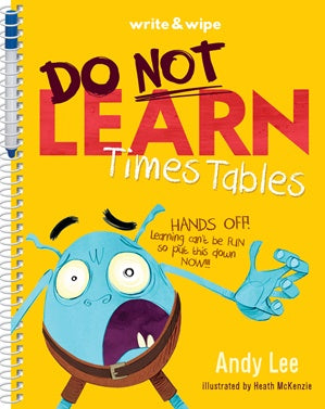 Do Not Learn Times Tables Write & Wipe Book