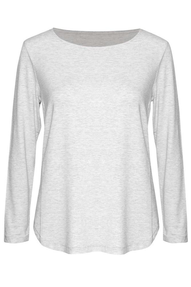 Adele Long Sleeve Tee - Grey Marle