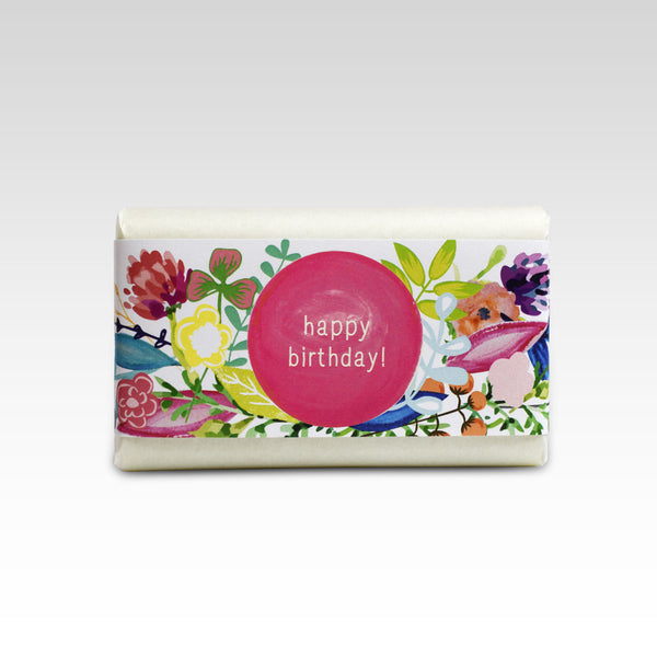 Floral Happy Birthday - French Pear Soap