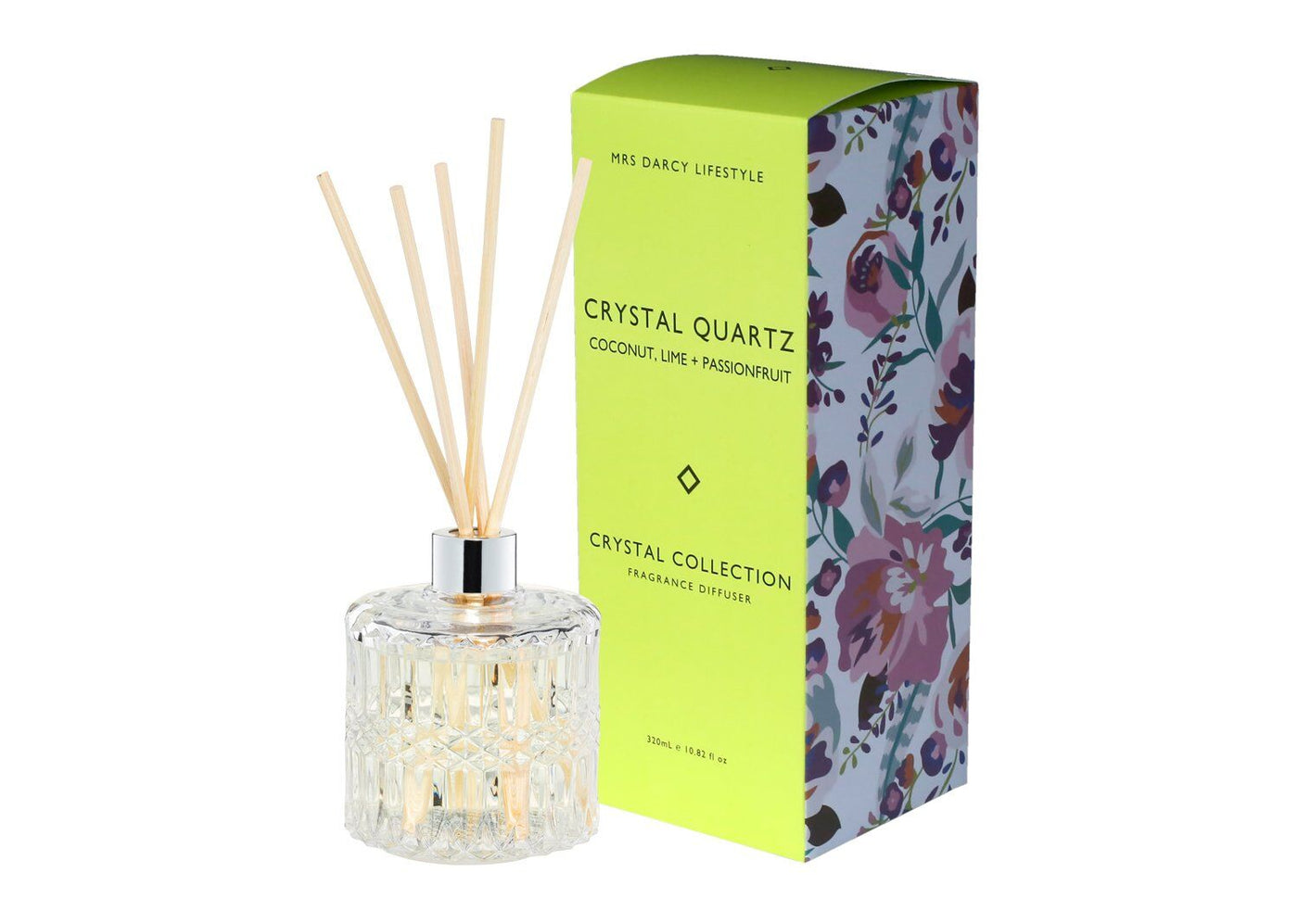 Crystal Quartz Diffuser - Coconut, Lime + Passionfruit