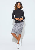 Whitney Midi Tube Skirt - Denim Marle