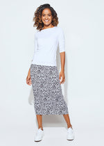 Whitney Maxi Tube Skirt - Black Leopard
