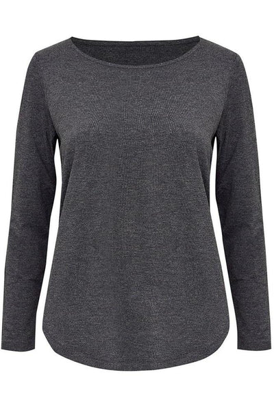 Adele Long Sleeve Tee - Charcoal