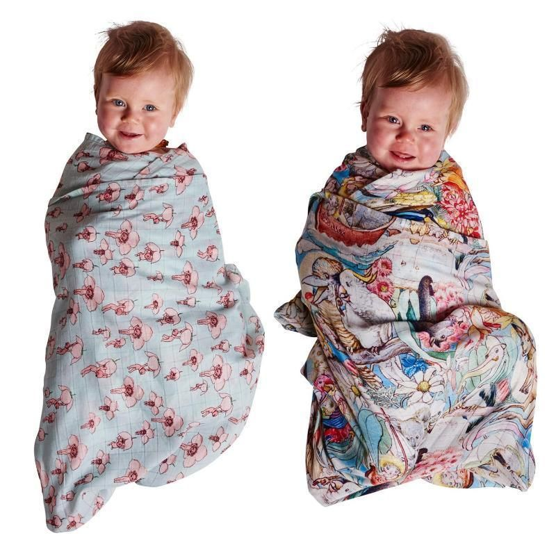 Kip & Co X May Gibbs Nap Wrap Set of 2 - Pinkie / Bush Friends