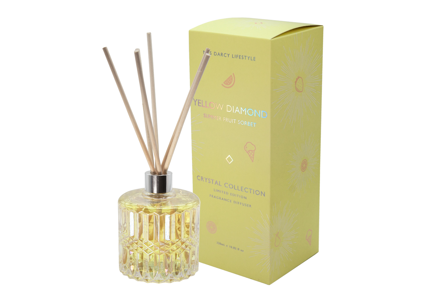Yellow Diamond Diffuser - Summer Fruit Sorbet