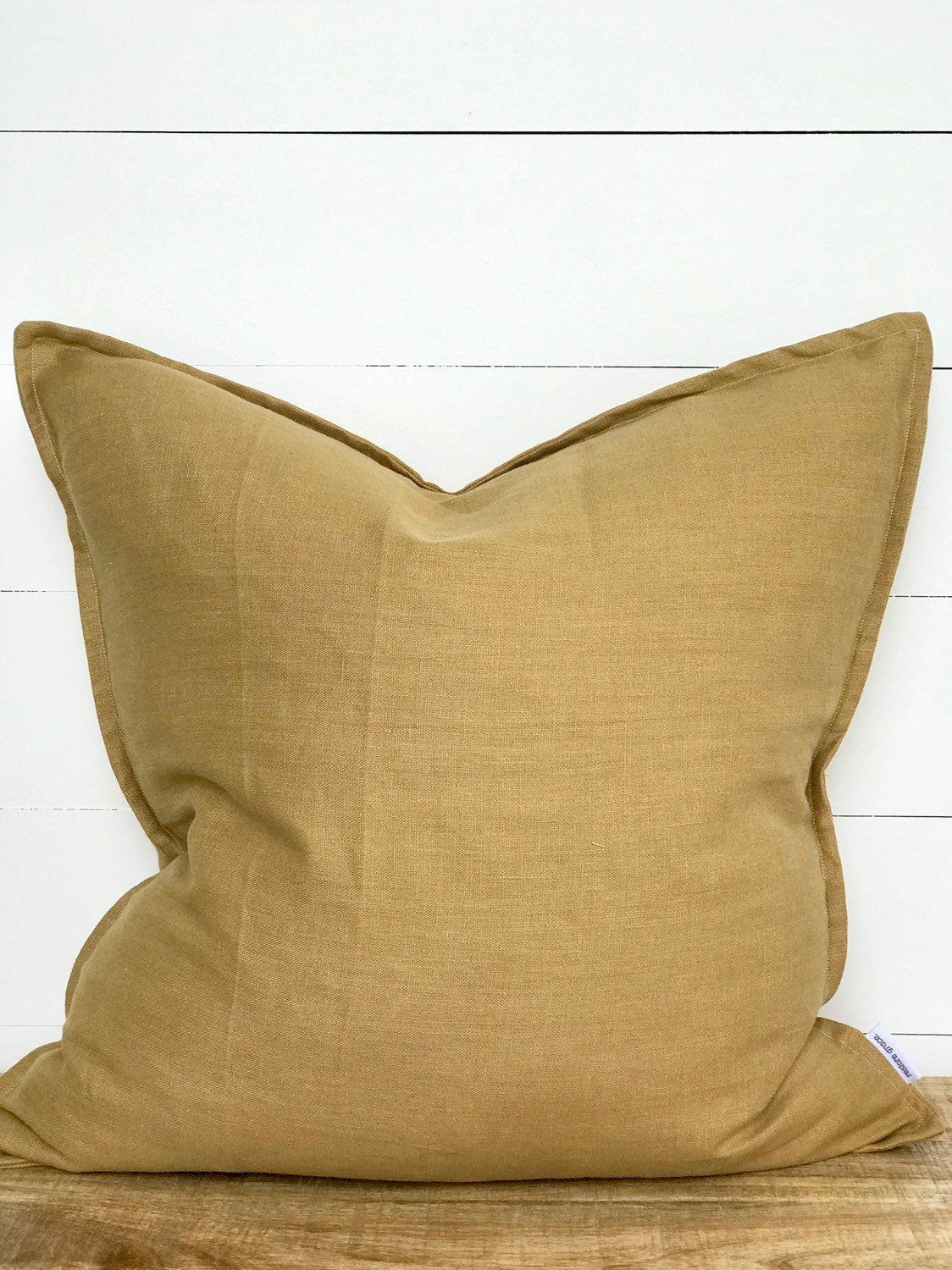 Mustard Linen Cushion Cover