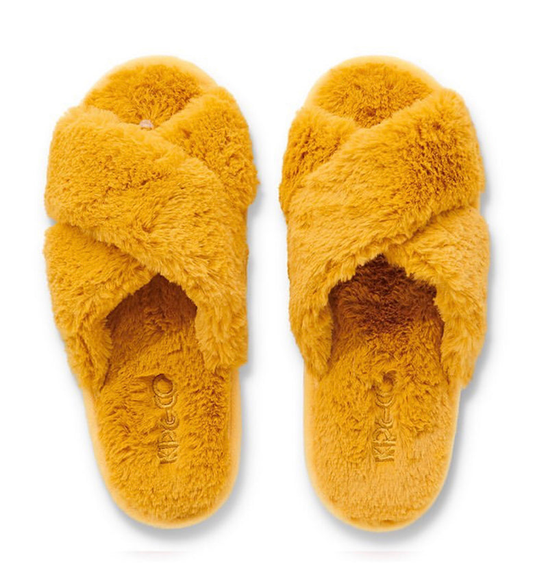 Sunshine Yellow Mellow Adult Slippers
