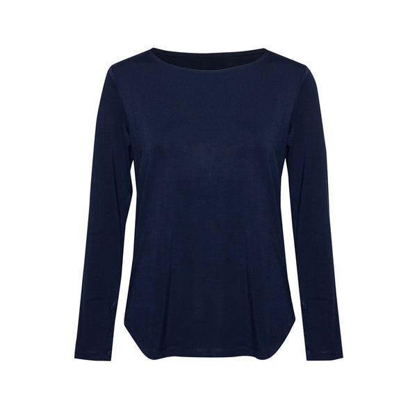 Adele Long Sleeve Tee - Navy