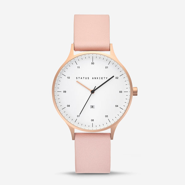 Status Anxiety Inertia Brushed Copper and Blush Watch