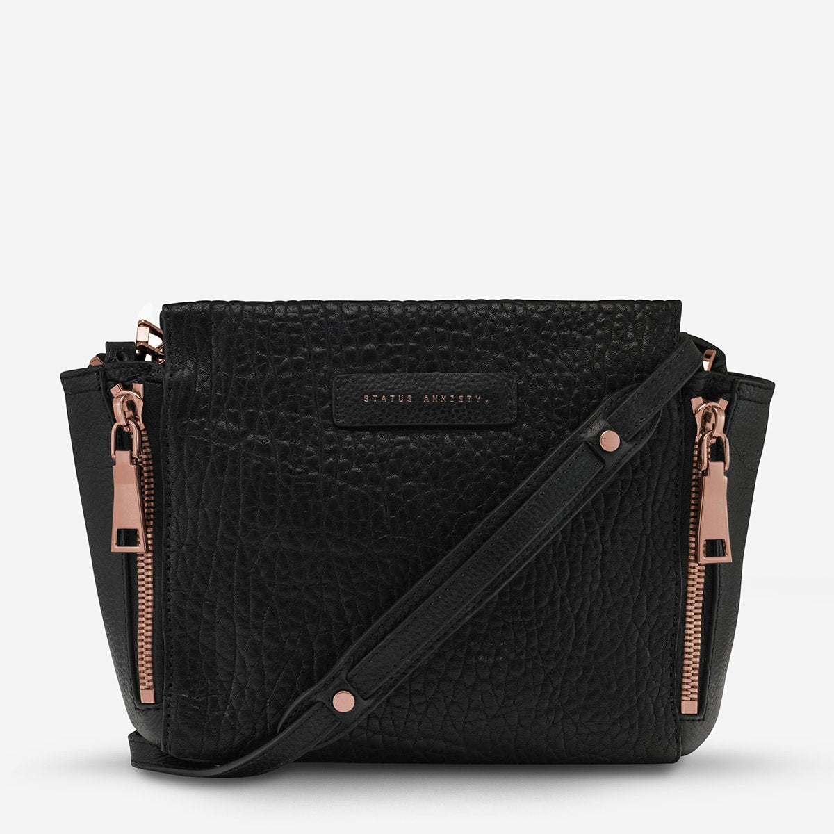 The Ascendants Bag - Black Bubble Rose Gold