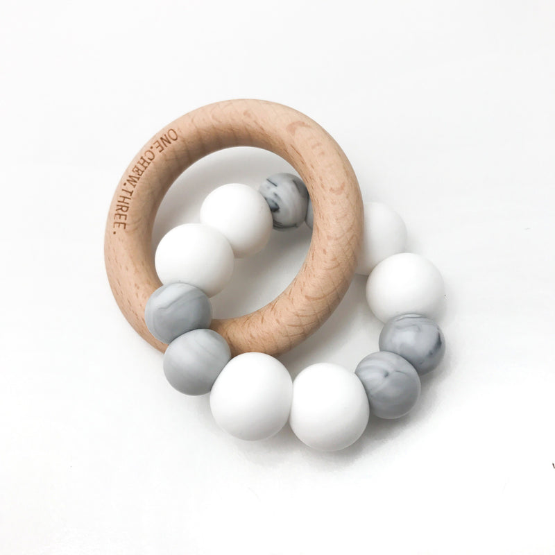 Duo Silicone and Wood Teether