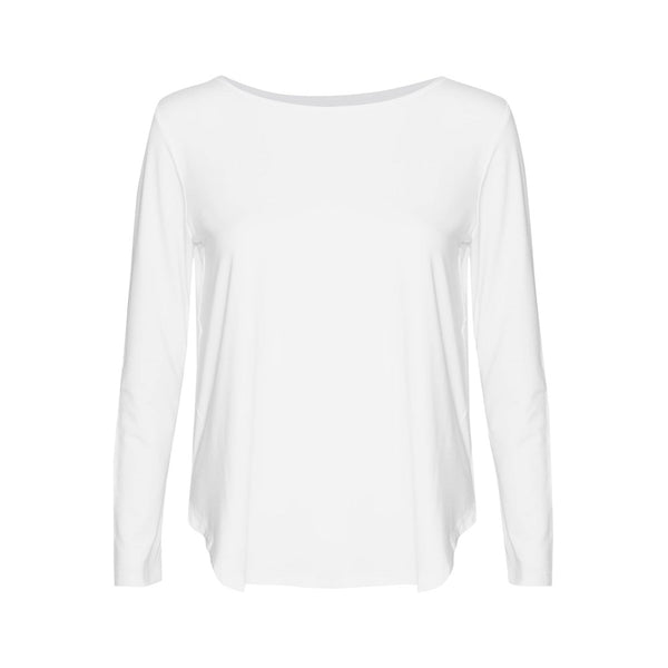Adele Long Sleeve Tee - White