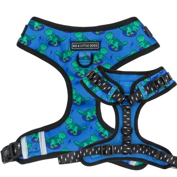 Adjustable Dog Harness Rawr Dinosaurs