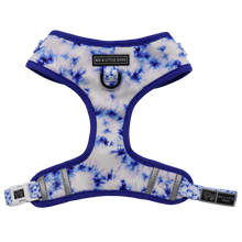 Adjustable Dog Harness Blue Tie Dye