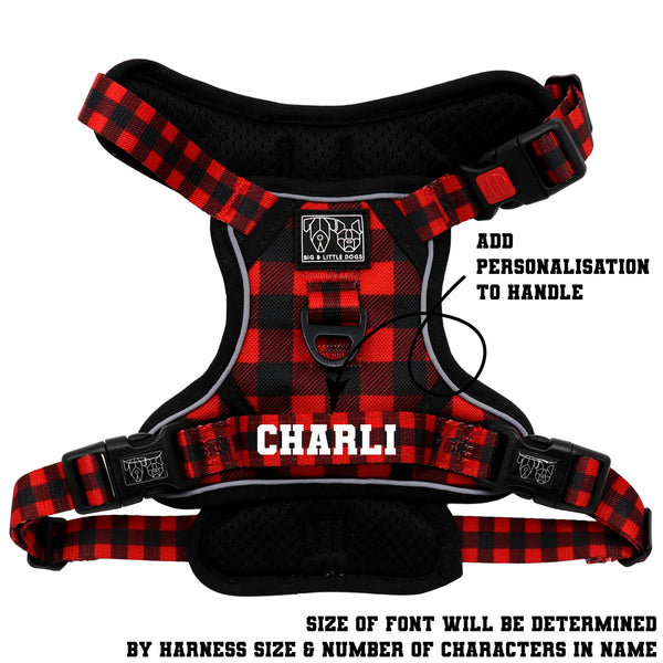 THE ALL-ROUNDER DOG HARNESS: Plaid to the Bone (NEW!)
