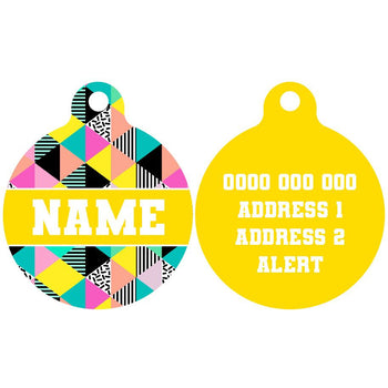 Pet ID Tag | All-Sorts (Yellow)