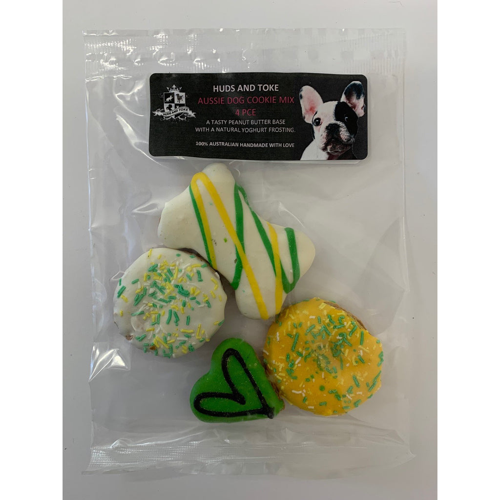 DOG TREATS Huds and Toke Mixed Aussie Cookie Pack | 4 Pce