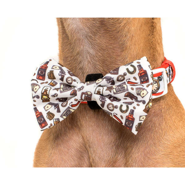 Best in the West Western Comfort Dog Collar with Bow Tie