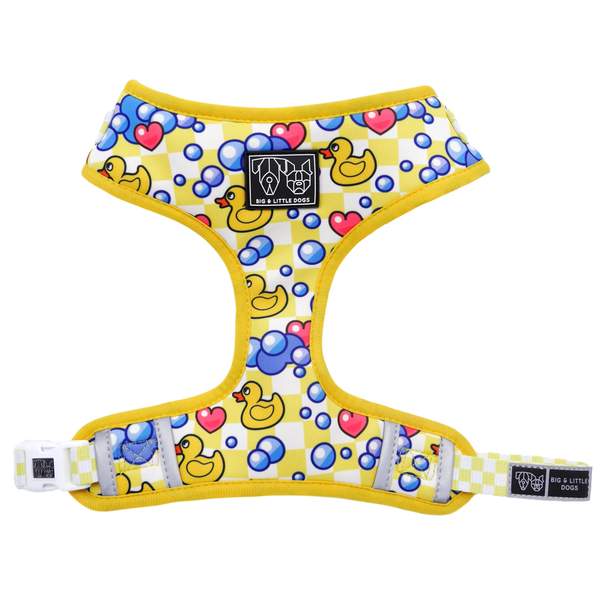 Adjustable Dog Harness Rubber Ducky Bubbles Hearts Ducks
