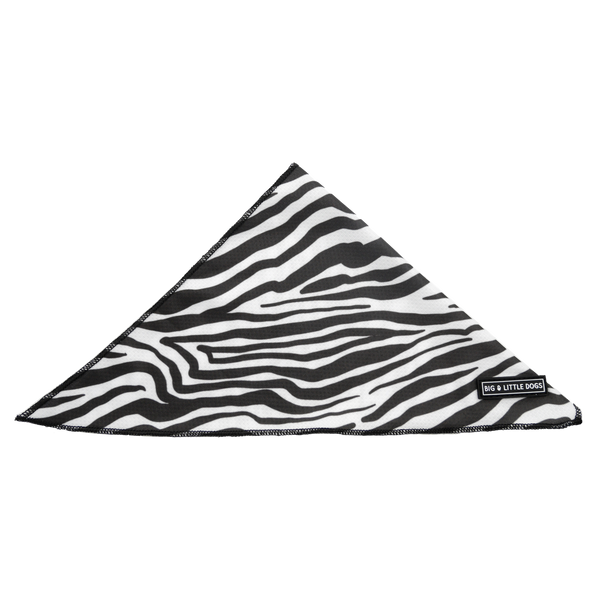 Dog Cooling Neckerchief Bandana Into The Wild Zebra Pattern