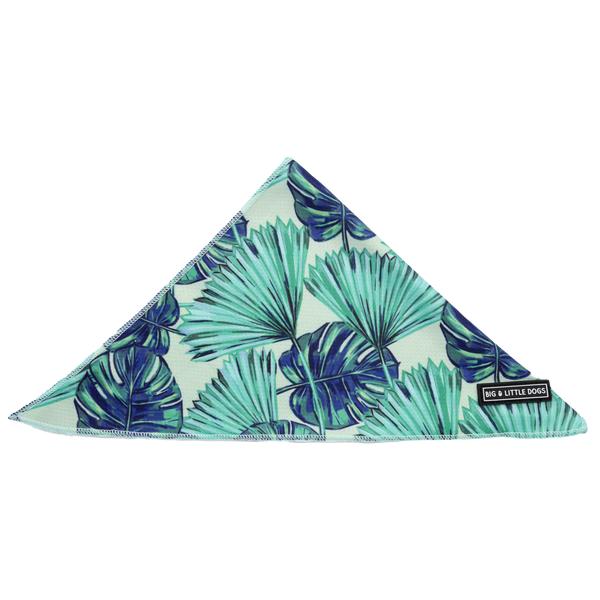 Dog Cooling Neckerchief Bandana Miami Summer Palm Leaves