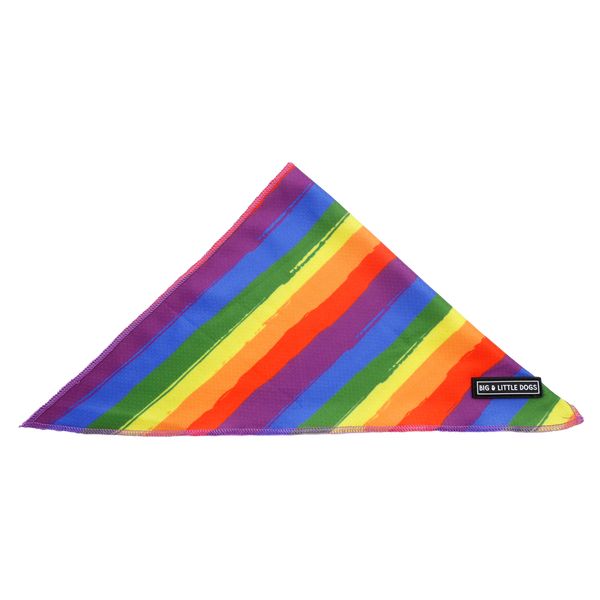 Dog Cooling Neckerchief Bandana Rainbow Pride