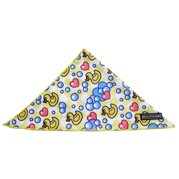 Dog Cooling Neckerchief Bandana Rubber Ducky Hearts Bubbles Ducks
