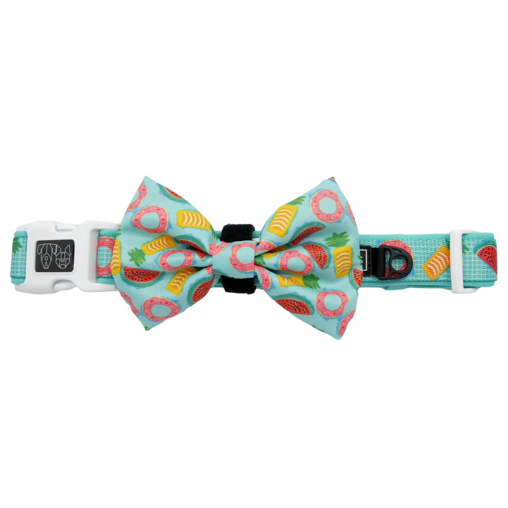 Dog Collar and Bow Tie A Splashing Good Time Pool Floats Fruit