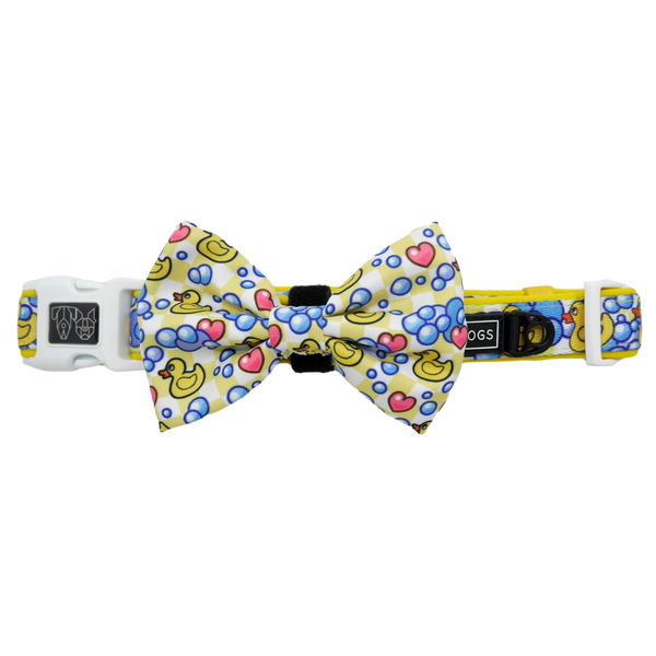 Dog Collar and Bow Tie Rubber Ducky Bubbles Heart Duck