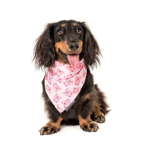 Cooling Dog Neckerchief Bandana for Big and Small Dogs Gettin' Piggy With It