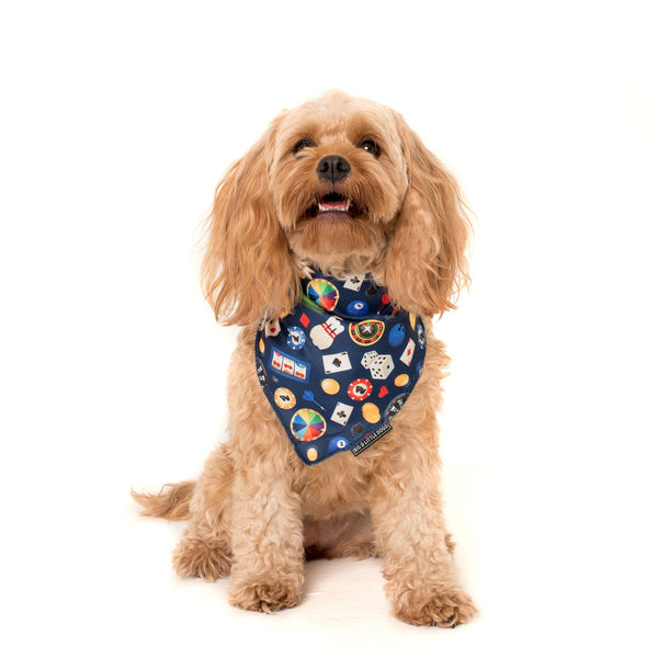 Cooling Dog Neckerchief Bandana for Big and Small Dogs High Roller Las Vegas
