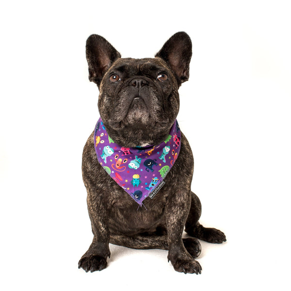 Cooling Dog Neckerchief Bandana for Big and Small Dogs Monster Mash Cartoon Monsters