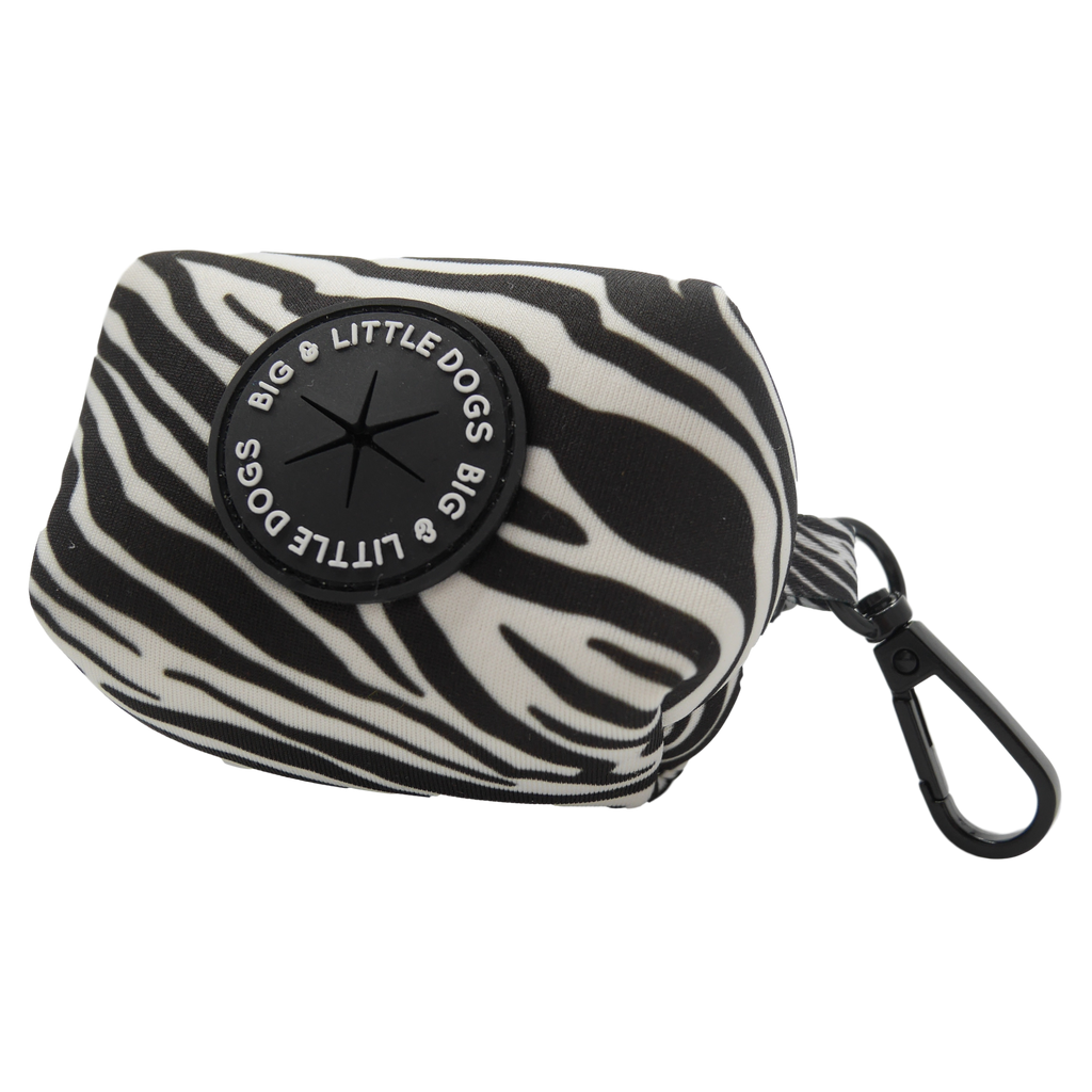 Neoprene Dog Poop Bag Holder Into The Wild Zebra Pattern