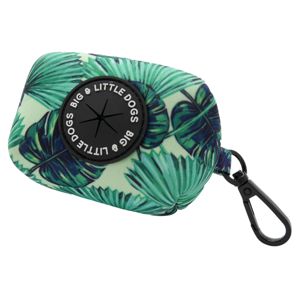 Neoprene Dog Poop Bag Holder Miami Summer Palm Leaves