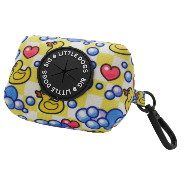Neoprene Dog Poop Bag Holder Rubber Ducky Hearts Bubble Ducks