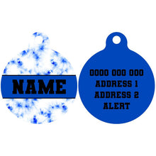 Premium Pet ID Tag | Blue Tie Dye