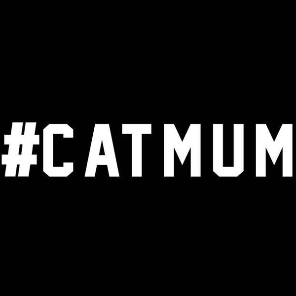 BUMPER STICKER: #CATMUM