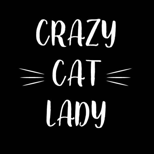 BUMPER STICKER: CRAZY CAT LADY