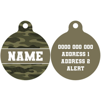 Pet ID Tag | Camouflaged