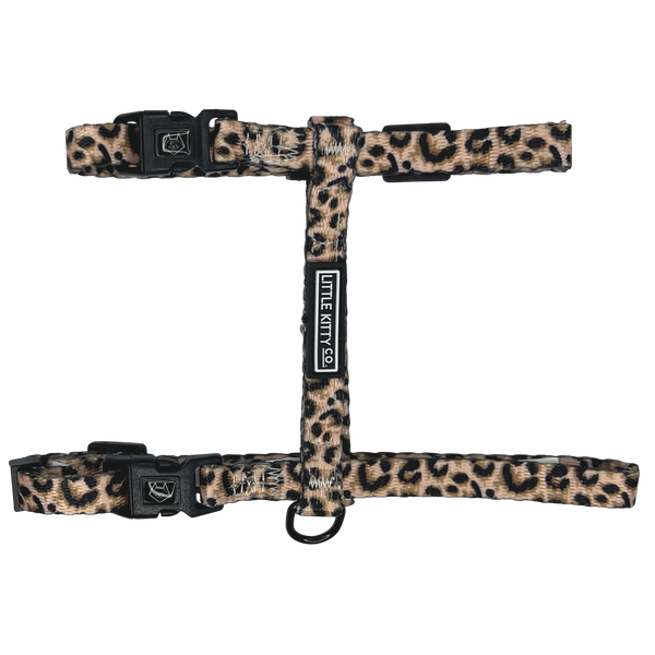Cat Strap Harness Luxurious Leopard