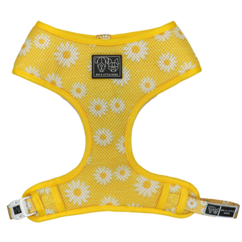 Classic Mesh Dog Harness Oopsie Daisy Yellow Daisies